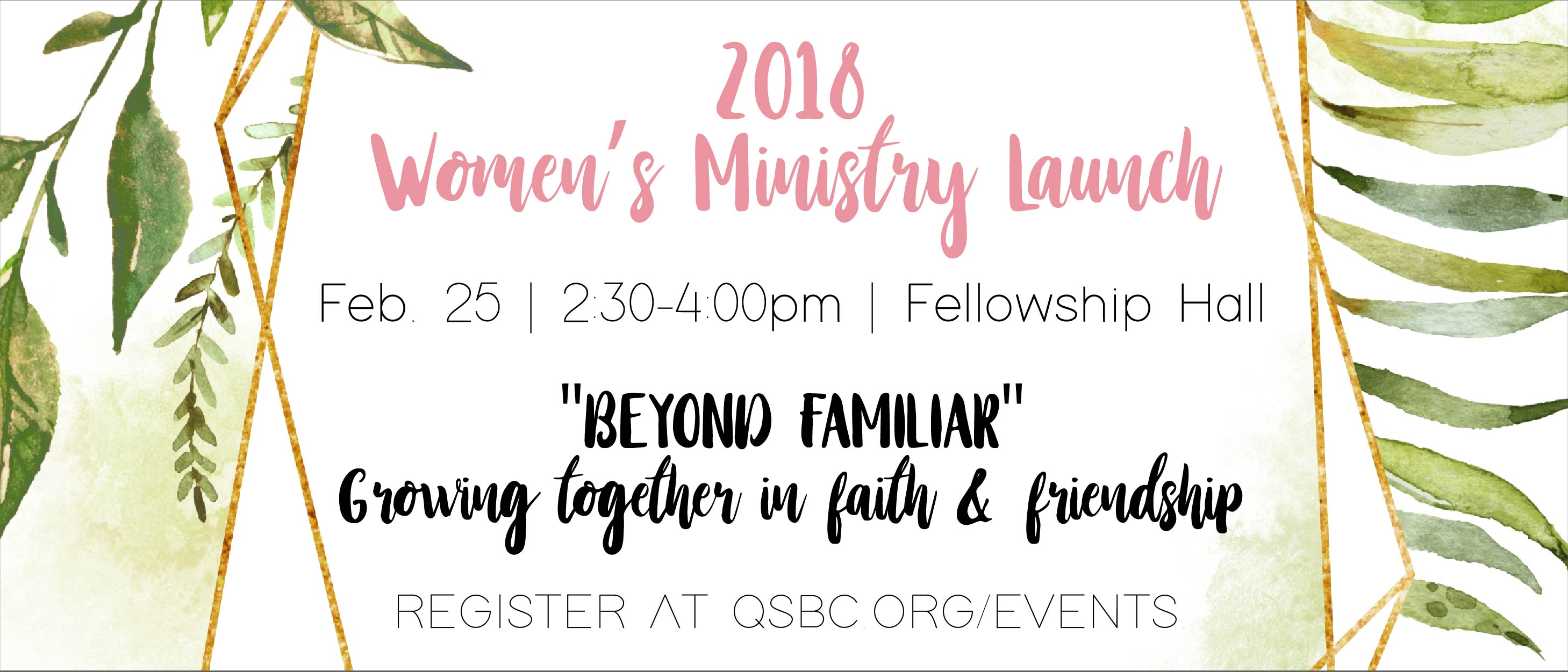 2018 Women's Ministry Launch